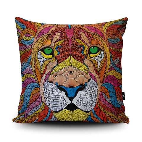 Lion Cushion by Paul Robbins
