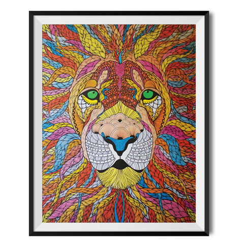 Lion Original Print by Paul Robbins