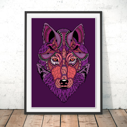 Mystic Wolf Original Print by Paul Robbins