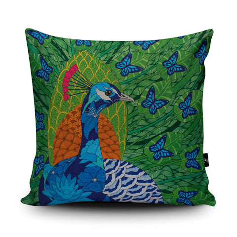 Peacock Butterflies Cushion by Paul Robbins