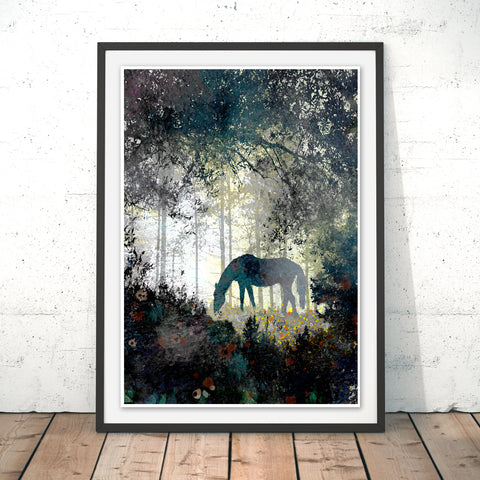 Horse Original Print by Phill Taffs