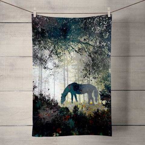 Horse Tea Towel by Phill Taffs