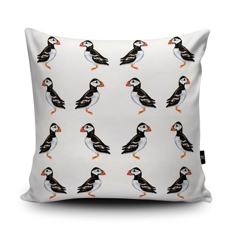 Puffin Cushion by Rhiannon Findlay