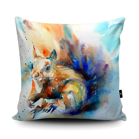 Formby Red Squirrel Cushion by Liz Chaderton