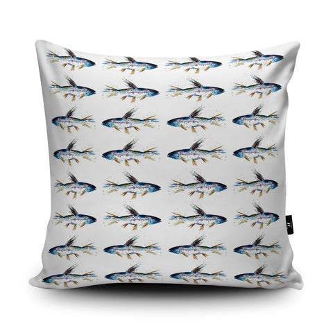 Rainbow Trout Cushion by Rhiannon Findlay