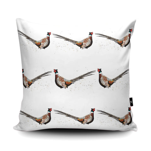 Pheasant Cushion by Rhiannon Findlay