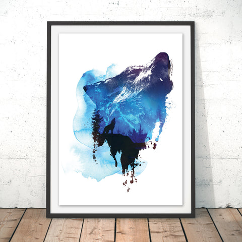 Alone as a Wolf Original Print by Robert Farkas