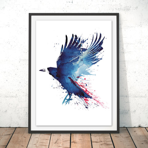 Bloody Crow Original Print by Robert Farkas