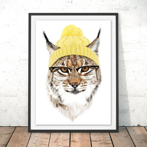 Cold Cat Original Print by Robert Farkas