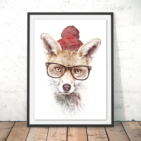 Cold Outside Original Print by Robert Farkas