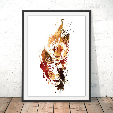 El Guepardo Original Print by Robert Farkas