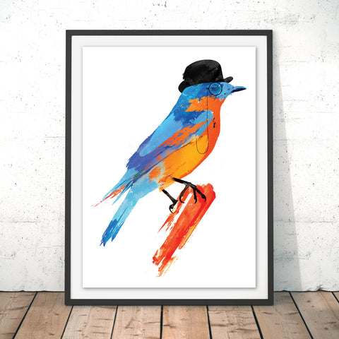 Lord Birdy Original Print by Robert Farkas
