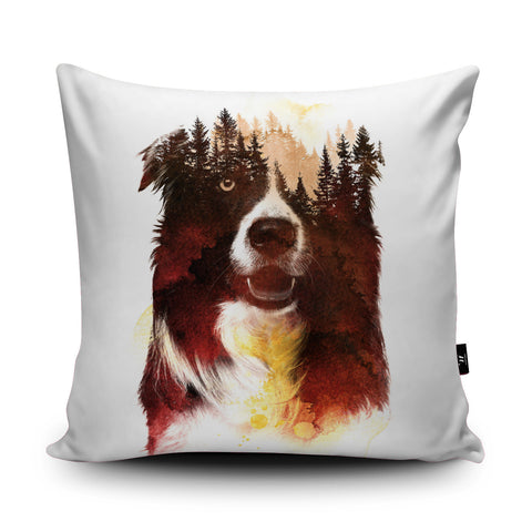 One Night in the Forest Cushion by Robert Farkas