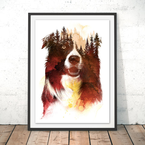 One Night in the Forest Original Print by Robert Farkas