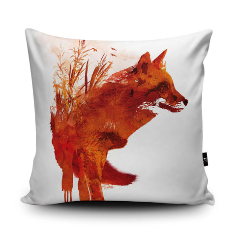 Plattensee Fox Cushion by Robert Farkas