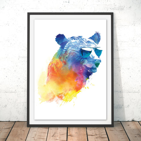 Sunny Bear Original Print by Robert Farkas