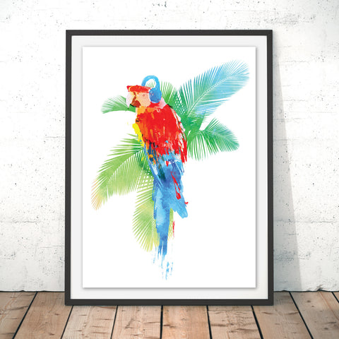 Tropical Party Original Print by Robert Farkas