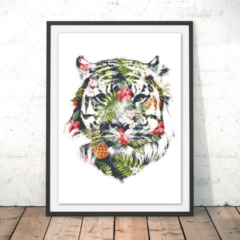 Tropical Tiger Original Print by Robert Farkas