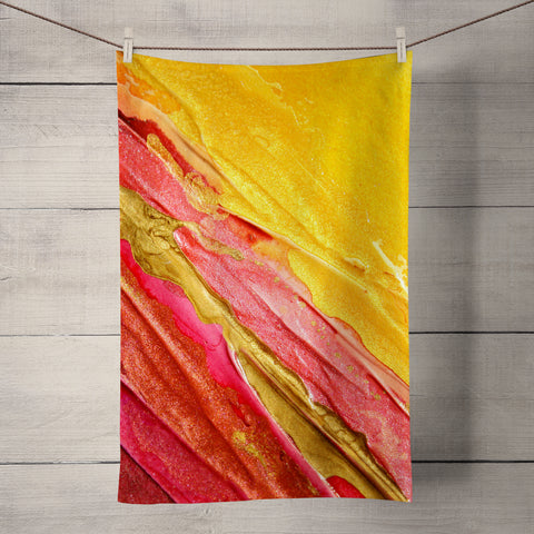 Fiesta Tea Towel by Rosalind Dando