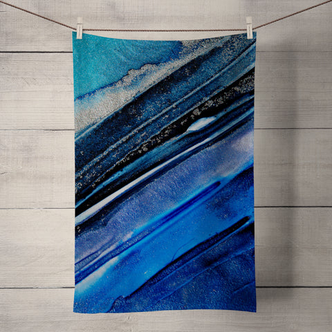 Oceanic Tea Towel by Rosalind Dando
