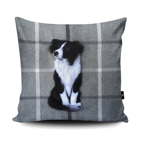 Border Collie Cushion by Sharon Salt