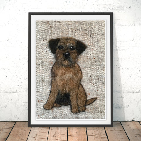 Border Terrier Original Print by Sharon Salt