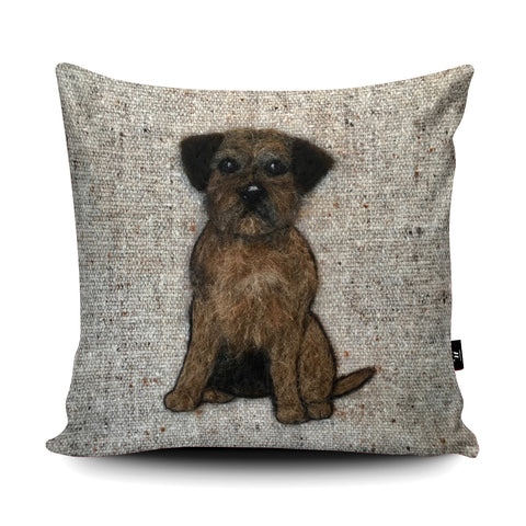 Border Terrier Cushion by Sharon Salt