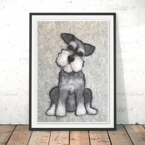 Mini Schnauzer Original Print by Sharon Salt