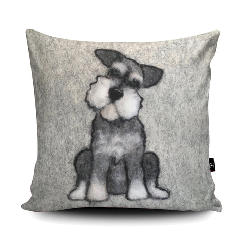 Mini Schnauzer Cushion by Sharon Salt