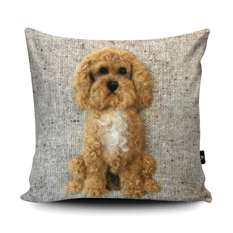 Cockapoo Cushion by Sharon Salt