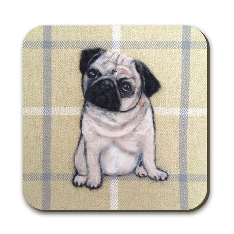 Pug Coaster by Sharon Salt