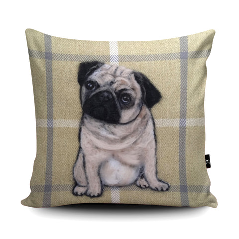 Pug Cushion by Sharon Salt