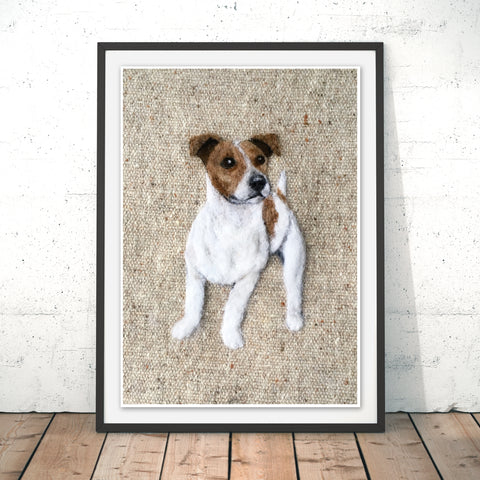 Smooth Haired Jack Russell Original Print by Sharon Salt