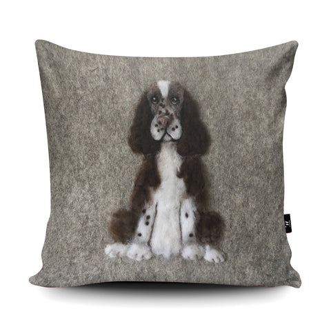 Springer Spaniel Cushion by Sharon Salt