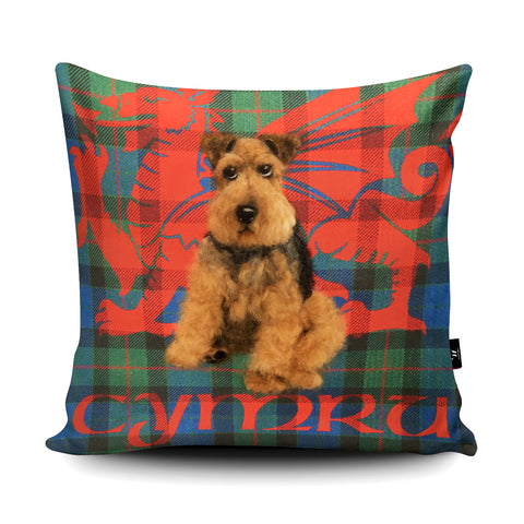 Welsh Terrier Cymru Cushion by Sharon Salt