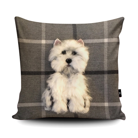 Westie Cushion by Sharon Salt