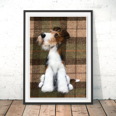 Wire Fox Terrier Original Print by Sharon Salt
