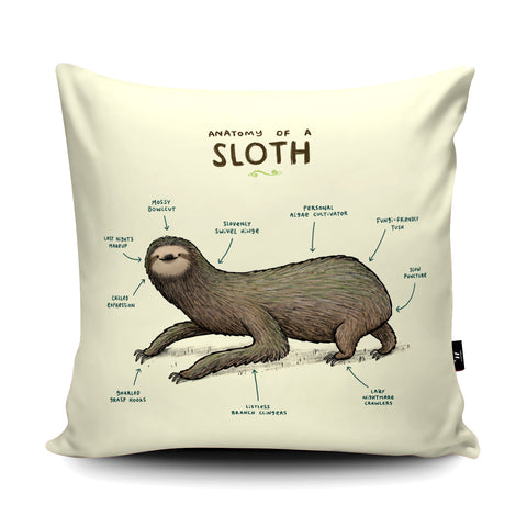 Anatomy of a Sloth Cushion by Sophie Corrigan