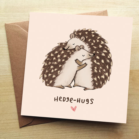Hedgehugs Greetings Card by Sophie Corrigan
