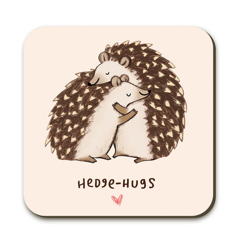 Hedgehugs Coaster by Sophie Corrigan