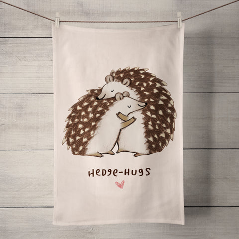 Hedgehugs Tea Towel by Sophie Corrigan