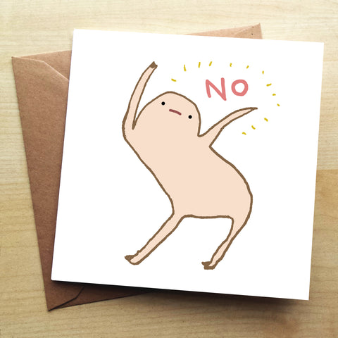 Honest Blob No Greetings Card by Sophie Corrigan