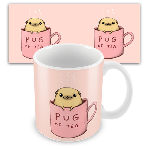 Pug Of Tea Ceramic Mug by Sophie Corrigan