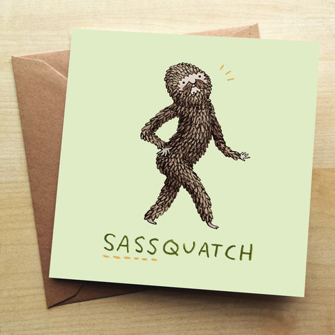Sassquatch Greetings Card by Sophie Corrigan