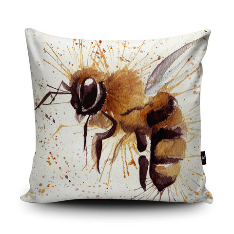 Splatter Bee Cushion by Katherine Williams