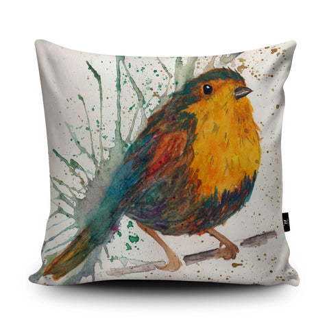 Splatter Bird Cushion by Katherine Williams
