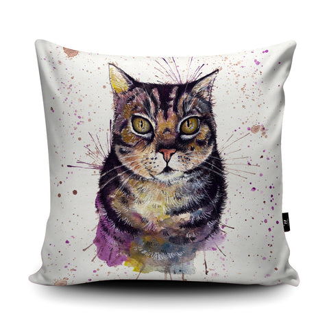 Splatter Cat Cushion by Katherine Williams