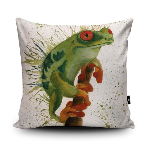 Splatter Frog Cushion by Katherine Williams