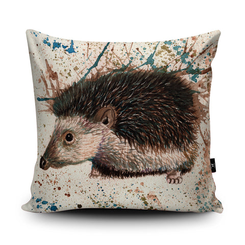 Splatter Hedgehog Cushion by Katherine Williams