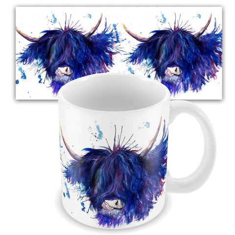 Splatter Highland Cow Mug by Katherine Williams